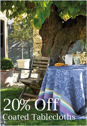 20% off Coated Tablecloths