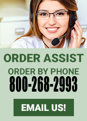 Order Assist: Order by phone 800-268-2993: Email Us