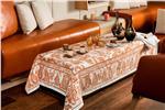 diner en ville caramel tablecloth