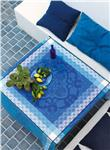 Azulejos china blue tablecloth