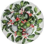 christmas holly plate