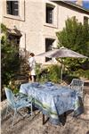 jardin de paradis celeste blue tablecloth