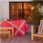 azulejos brique red tablecloth