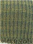 green wool throw