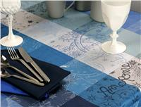 mille couleurs blue petrole tablecloth coated