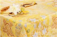Rialto yellow tablecloth