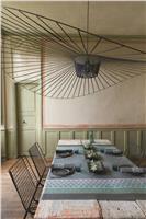 Bastide grey tablecloth coated