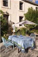 jardin de paradis celeste blue tablecloth