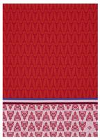 allover paris red dishtowel