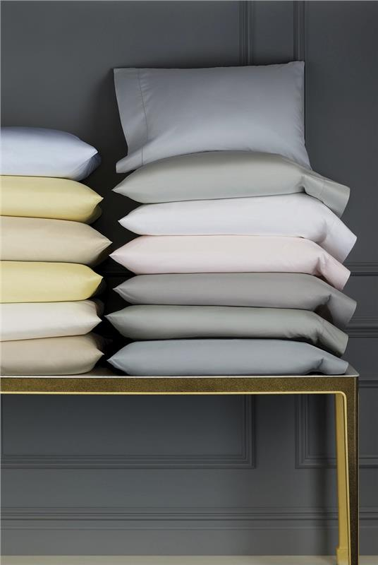Celeste 406 Thread Count Percale Bed Sheets In Queen Sizes