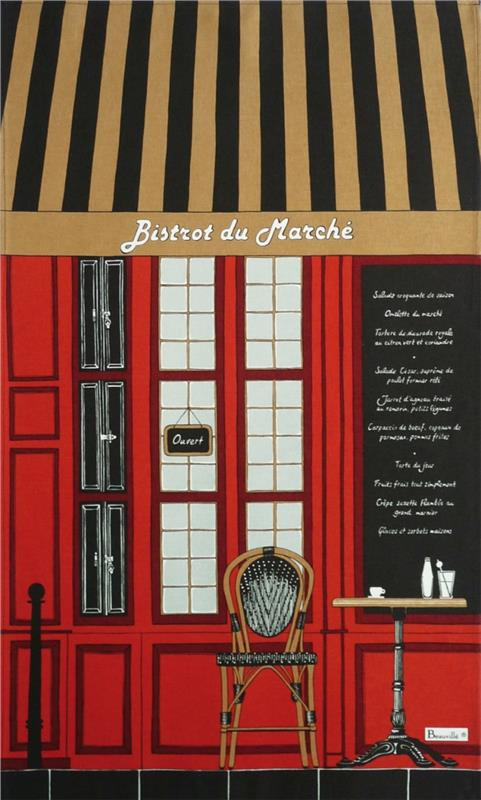Bistrot French Dishtowel By Beauville France