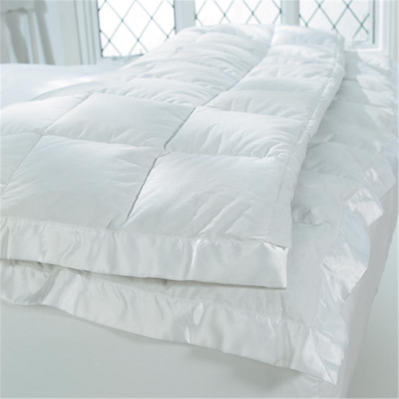 White fluffy comforter twin xl