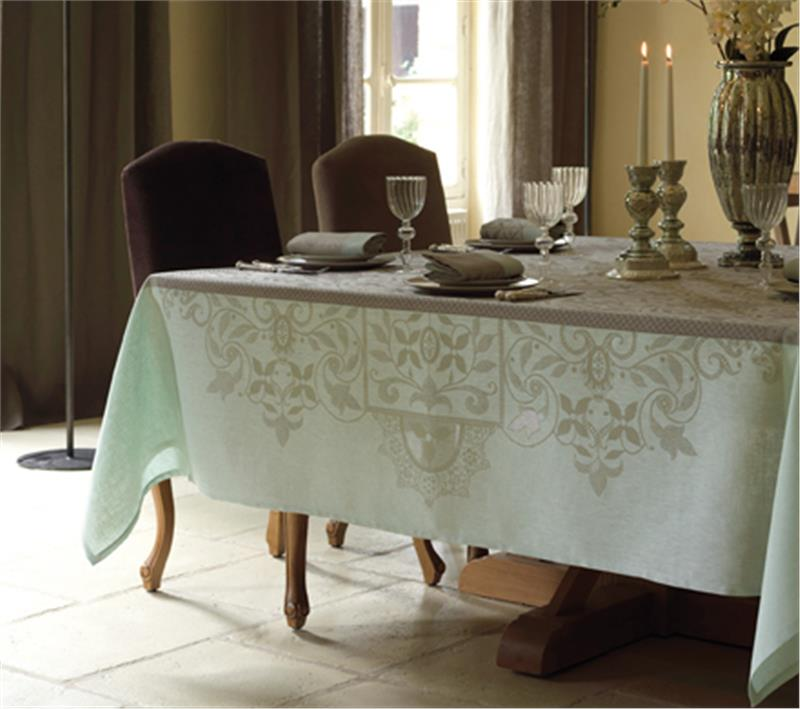Venezia Linen French Tablecloth In Ashy Beige