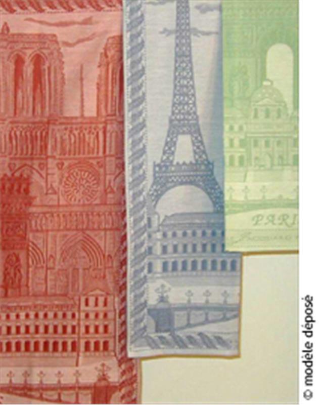 Paris french tea towel featured towel of le jacquard francais - Jacquard francais paris ...