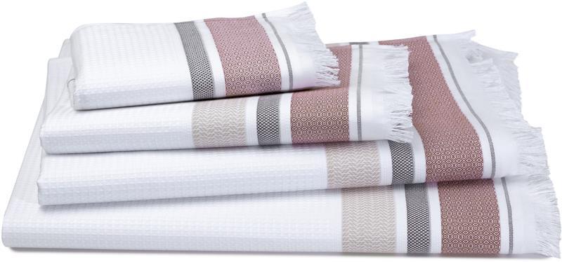 Folk Camel Waffle Weave Bath Towels By Le Jacquard Francais